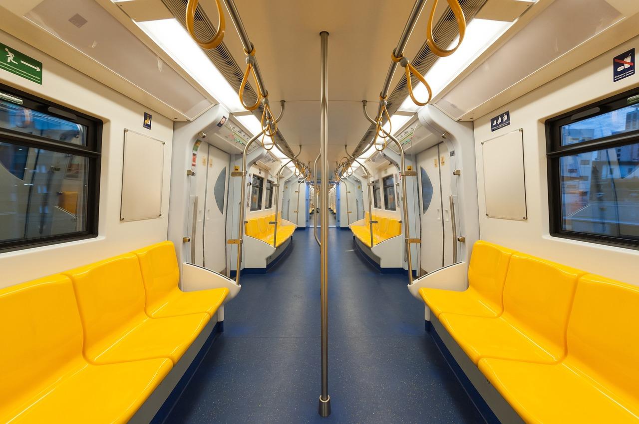 interior of a train