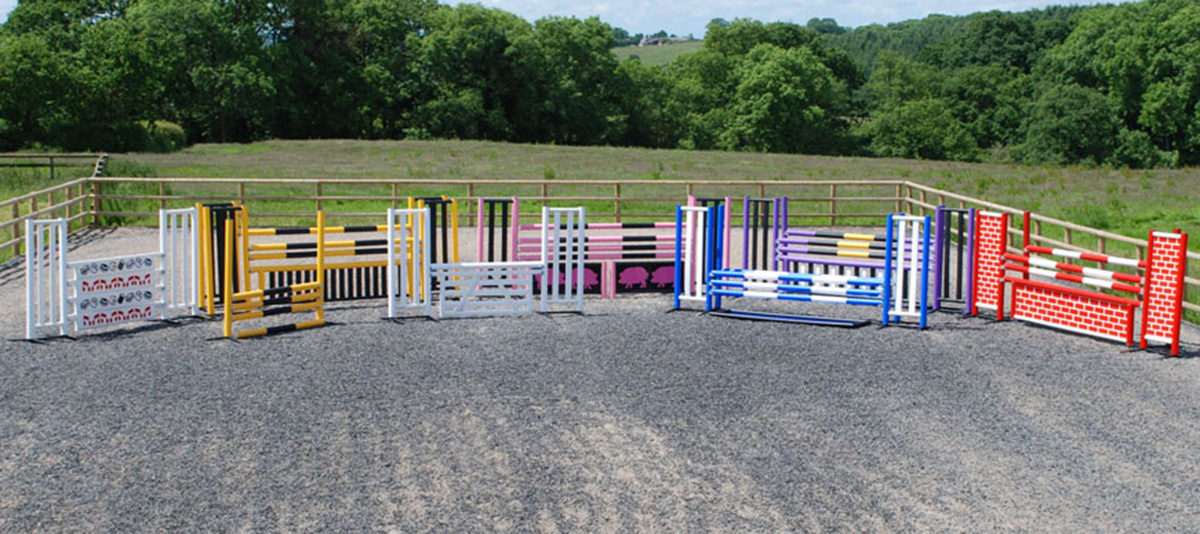 Horse riding jumps made via plastic extrusion